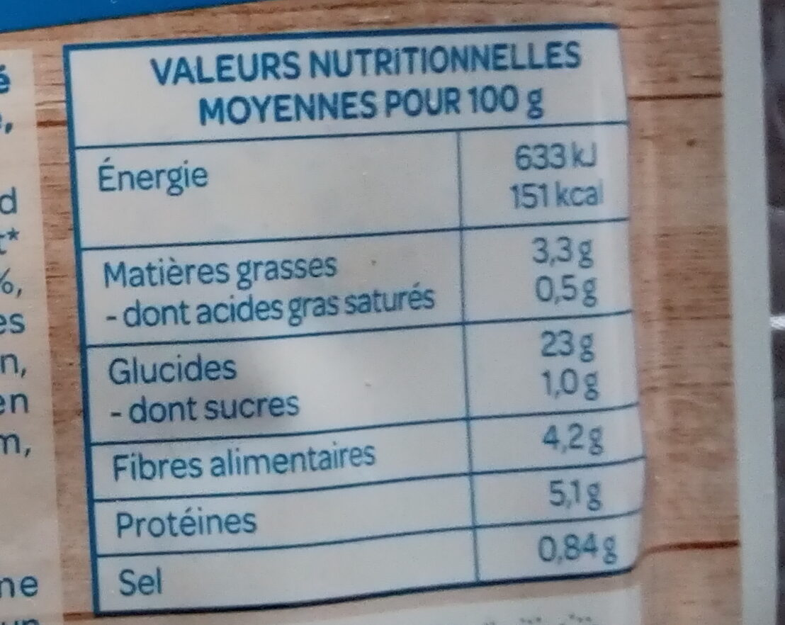 Quinoa tomates olives - Informations nutritionnelles - fr