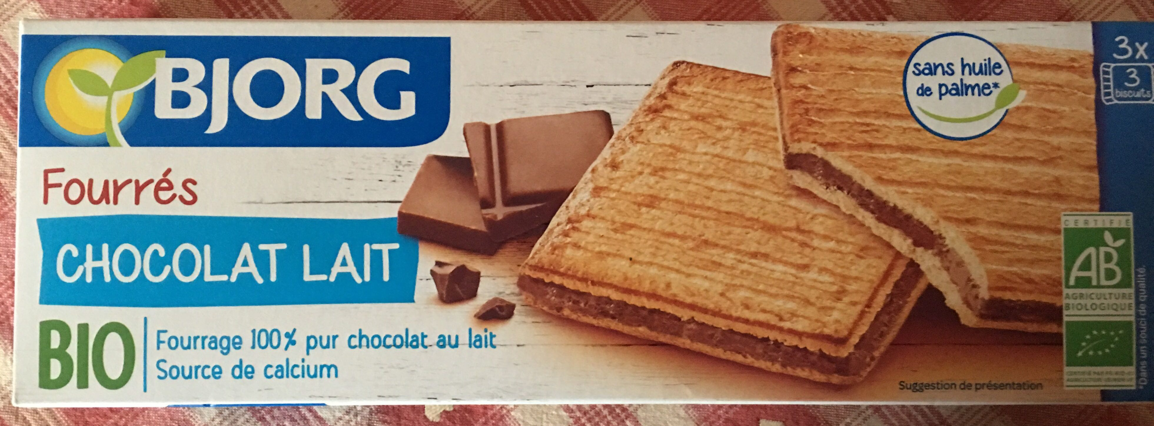 Fourrés Chocolat au lait BIO - Produit - fr