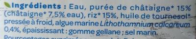 Riz châtaignes - Ingrédients - fr