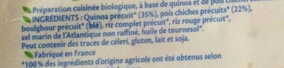 Quinoa pois chiches - Ingrédients - fr