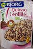 Quinoa Lentilles Bio - 250 g - Bjorg - Produit