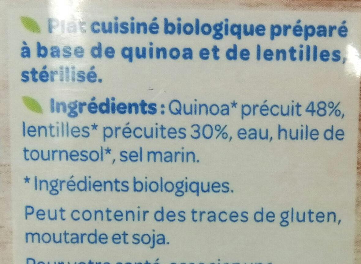 Quinoa Lentilles - Ingrediënten - fr