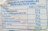 Quinoa Lentilles - Voedingswaarden - fr