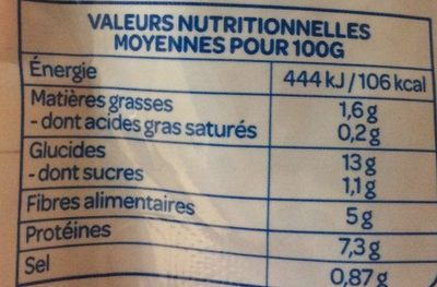 Lentilles carotte - Voedingswaarden
