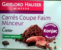 Carrés coupe faim minceur Cacao Gayelord Hauser - Product