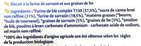 Biscuits Sarrasin et graines de lin bio - Ingrédients - fr