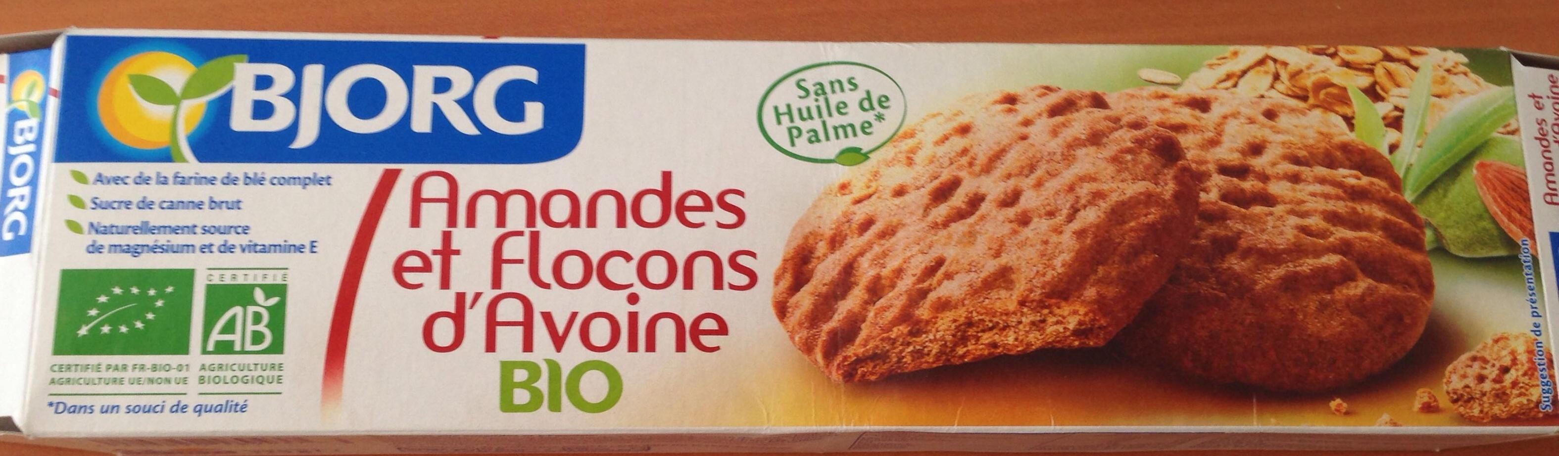 Amandes et flocons d 39 avoine bio bjorg 125 g 4 sachets for Amande cuisine bjorg