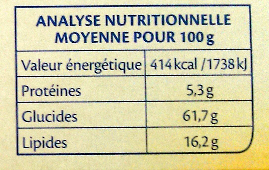 Bjorg - fourrés myrtilles bio - Nutrition facts - fr