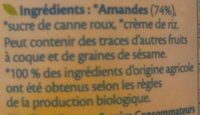 Amande a tartiner Bjorg Bio - Ingredients - fr