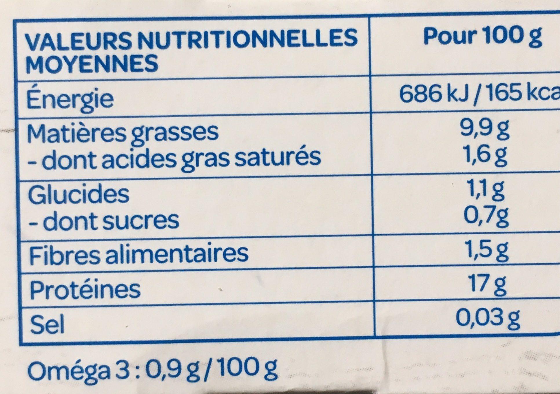 Tofu Nature Sachets fraîcheur - Informations nutritionnelles