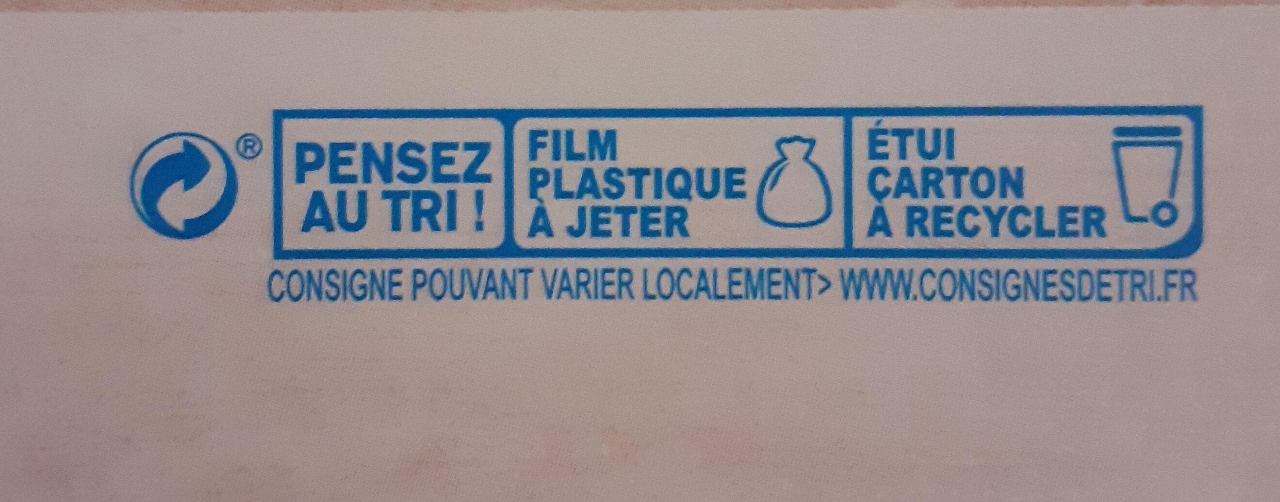 Tofu nature - Instruction de recyclage et/ou informations d'emballage - fr