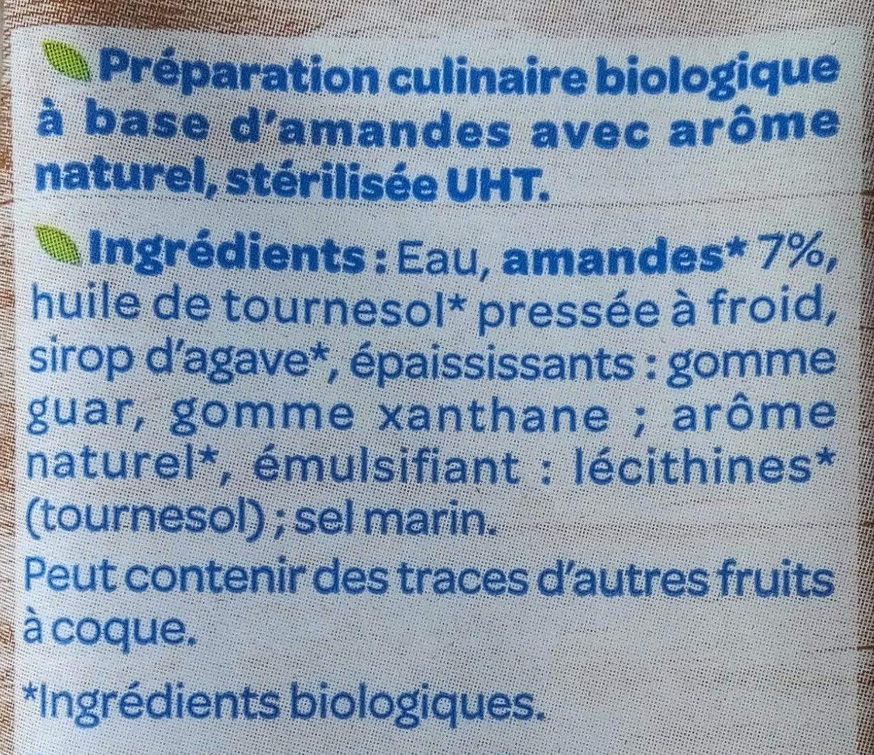 Amande cuisine - Ingredienti - fr
