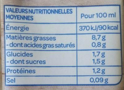 Amande cuisine - Informations nutritionnelles