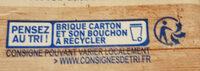 Amande cuisine - Istruzioni per il riciclaggio e/o informazioni sull'imballaggio - fr