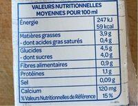 Lait d'amande Intense - Informations nutritionnelles - fr