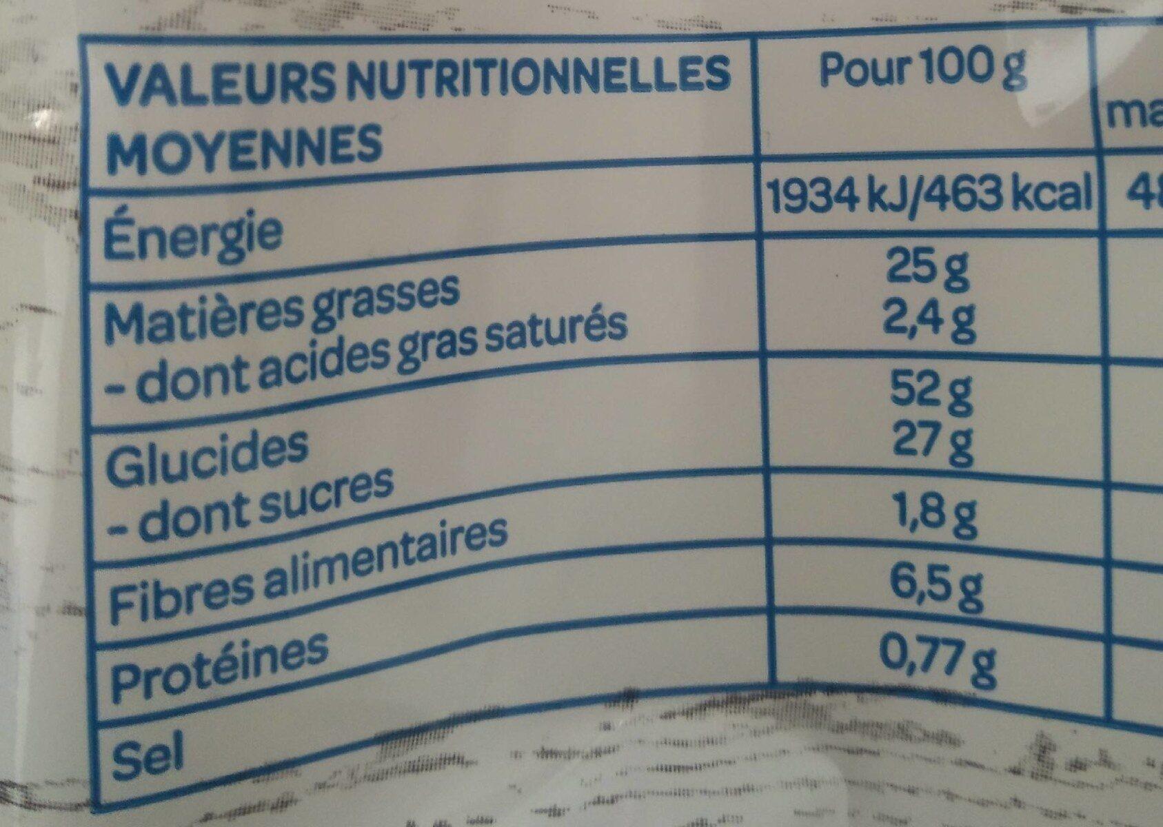 La madeleine Bio - Valori nutrizionali - fr