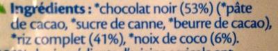 Galettes de riz - Chocolat noir Coco bio - Ingredienti - fr