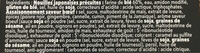 Ramen- Sauce Boeuf - Ingrédients