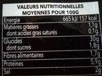 Ramen- Sauce Boeuf - Nutrition facts