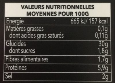 Ramen - Informations nutritionnelles - fr