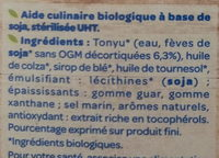 Soja cuisine fluide Bio - Inhaltsstoffe