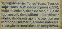 Soja cuisine fluide - Ingrédients - fr