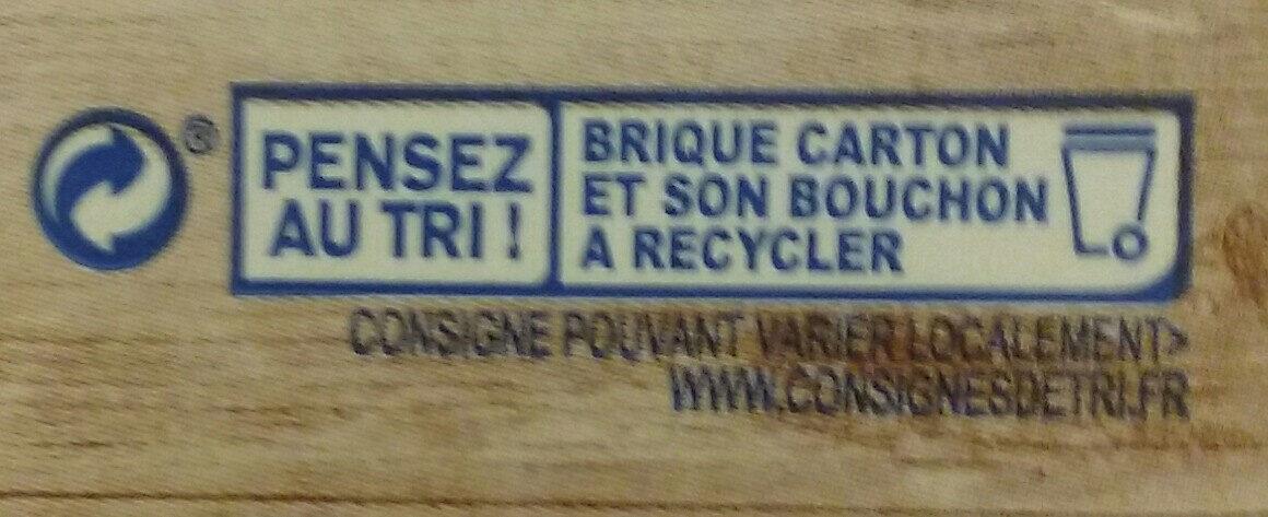 Soja cuisine fluide - Instruction de recyclage et/ou informations d'emballage - fr