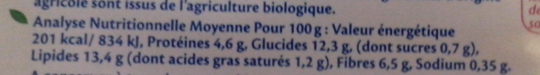 Galettes Quinoa - Informations nutritionnelles - fr