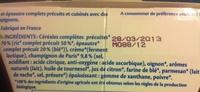 Risotto Epeautre Champignons Bio - Ingrédients
