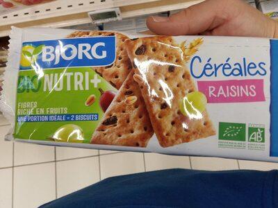 Bio nutri+ Céréales raisins - Product - fr
