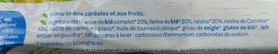 Bio nutri+ Céréales raisins - Ingredients - fr