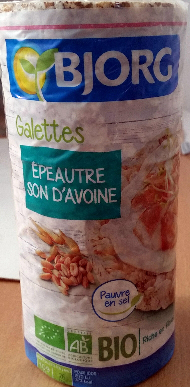 Galette épeautre/son d'avoine - Produit - fr