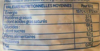 Galette épeautre/son d'avoine - Valori nutrizionali - fr