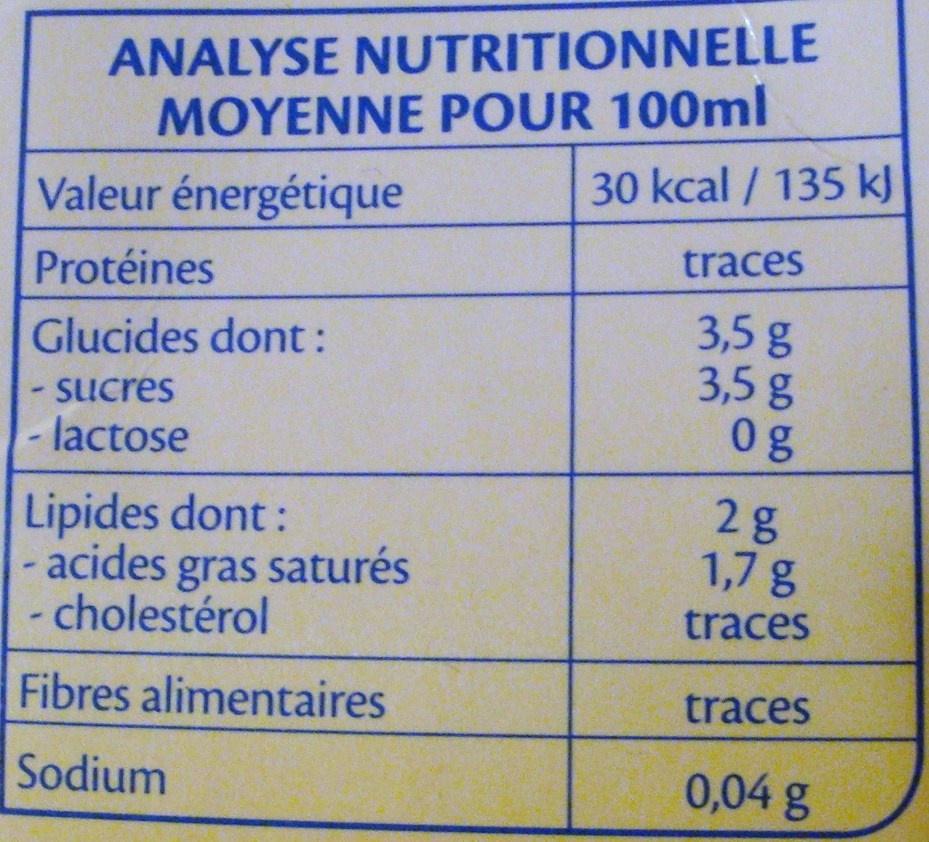 Boisson coco bio bjorg calories valeurs nutritionnelles et avis de consommation - Lait de coco bjorg ...