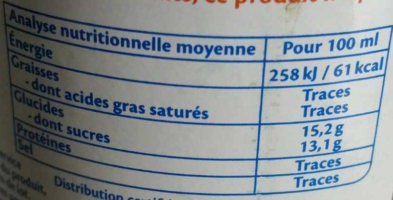 Pur jus de Grenade - Nutrition facts - fr