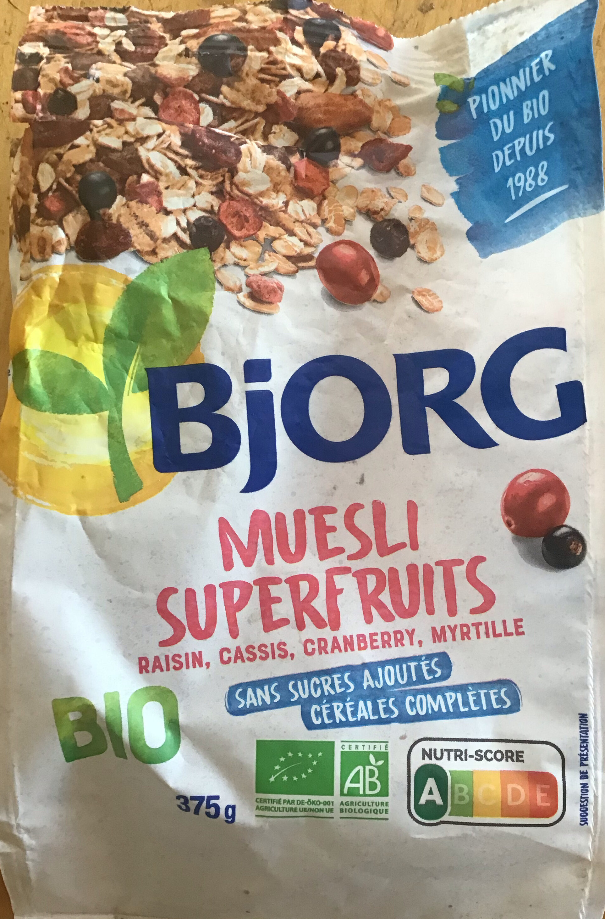 Muesli Superfruits Raisin Cassis Cranberry Myrtille - Producto - fr