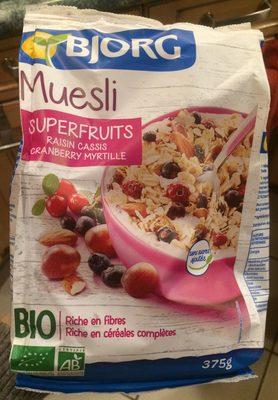 Muesli Superfruits Raisin Cassis Cranberry Myrtille - Product