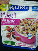 Muesli Superfruits Raisin Cassis Cranberry Myrtille - Product - fr