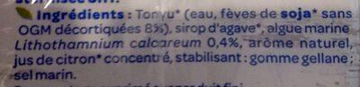 Soja calcium - Ingrédients - fr