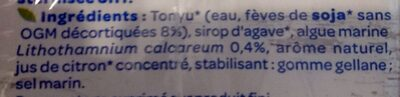 Soja calcium - Ingredients - fr