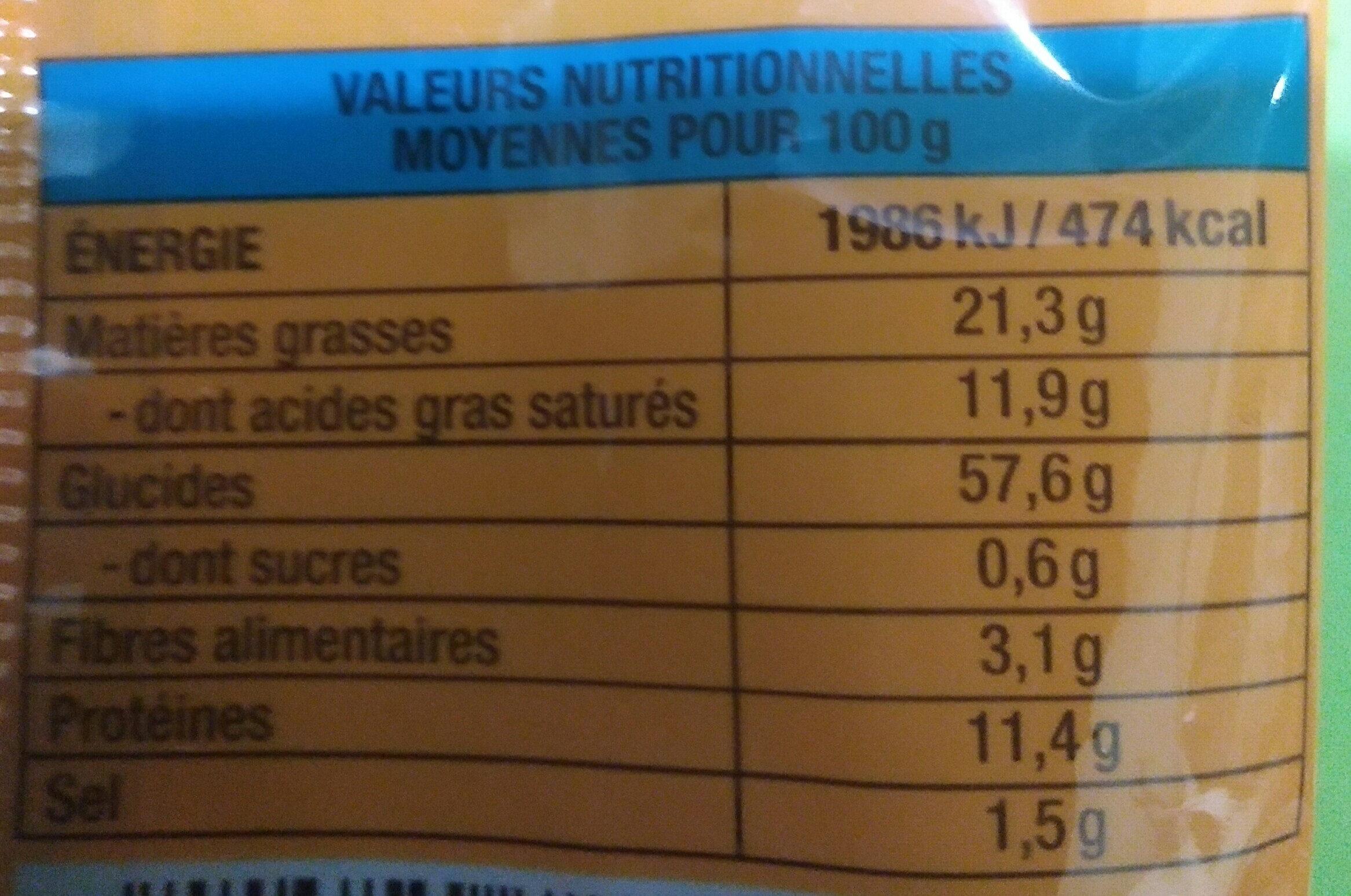 Mian Tiao saveur crevettes - 85 g - Thien Shan - Nutrition facts