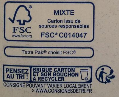 Boisson Epeautre Noisette - Instruction de recyclage et/ou informations d'emballage - fr