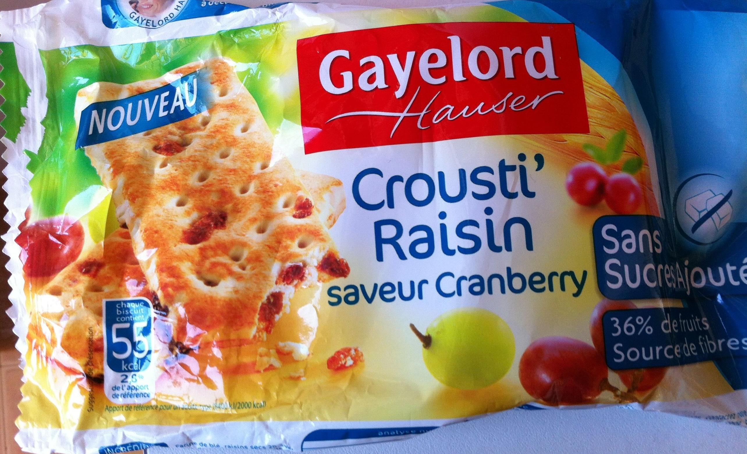 Crousti' Raisin Saveur Cranberry - Product