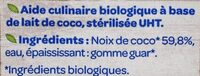 Lait de coco fluide - المكونات - fr