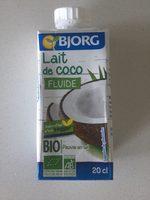 Lait de coco fluide - Informations nutritionnelles
