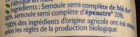Coquillettes Blé et Epeautre BIO - Ingrédients