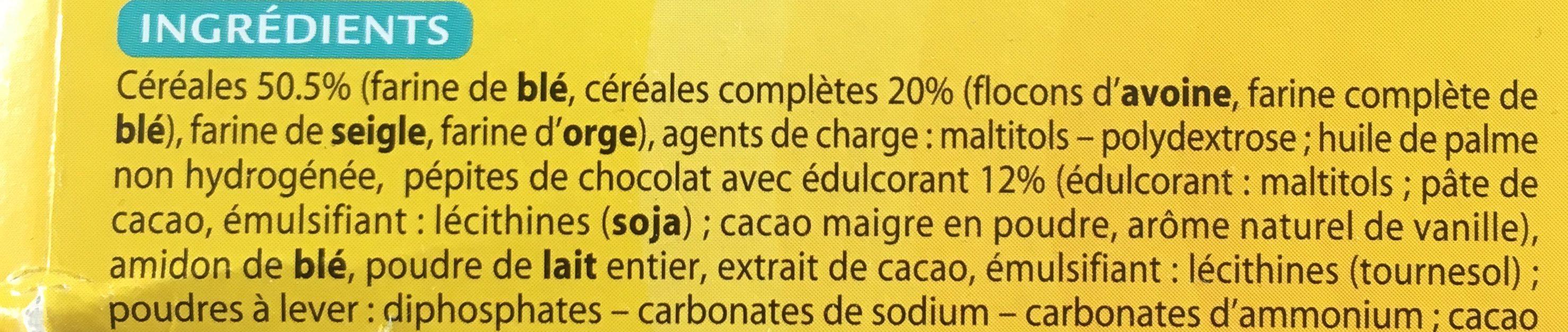 Choco Matin Pépites de Chocolat - Ingredients