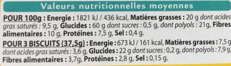 Choco Matin Pépites de Chocolat - Nutrition facts