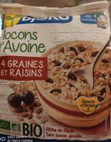 Flocons d'avoine 4 graines et raisins - Product - fr