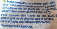 Flocons d'avoine 4 graines et raisins - Ingredients - fr